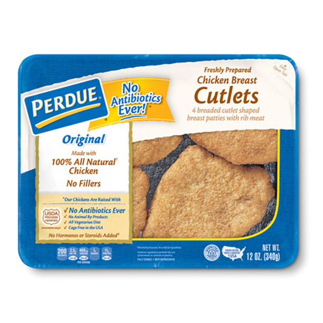 PERDUE® Refrigerated Breaded Chicken Breast Cutlets (12 oz.)