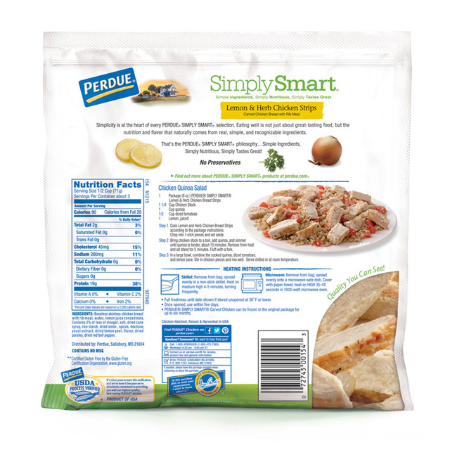 PERDUE® SIMPLY SMART® Lemon and Herb Chicken Strips (8 oz.)