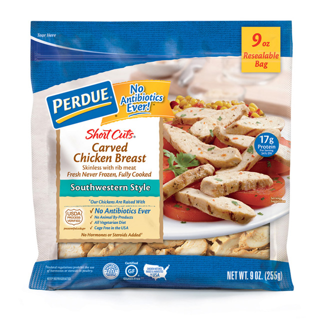 PERDUE® SHORT CUTS® Carved Chicken Breast, Southwestern Style (9 oz.)