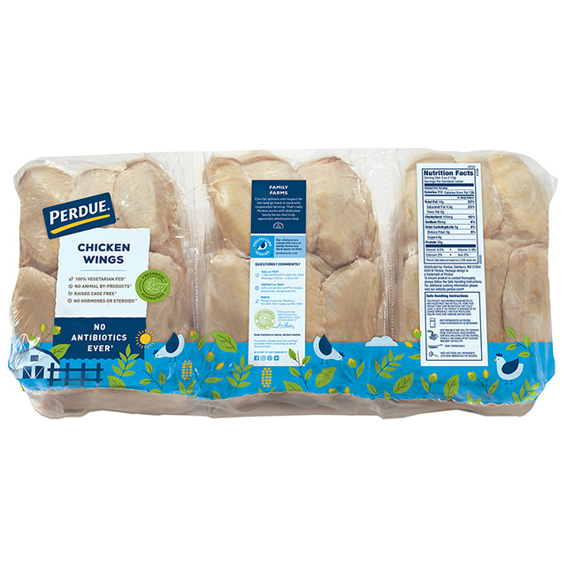 PERDUE® Fresh Chicken Wings, Freezer Ready Pouches®, Club Pack
