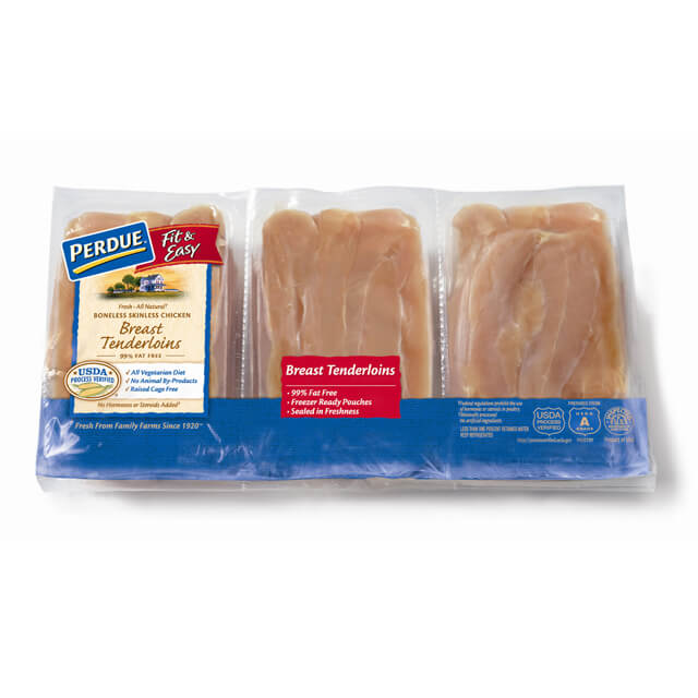 PERDUE® FIT & EASY® Boneless, Skinless Chicken Breast Tenderloins, Freezer Ready Pouches®, for Clubs