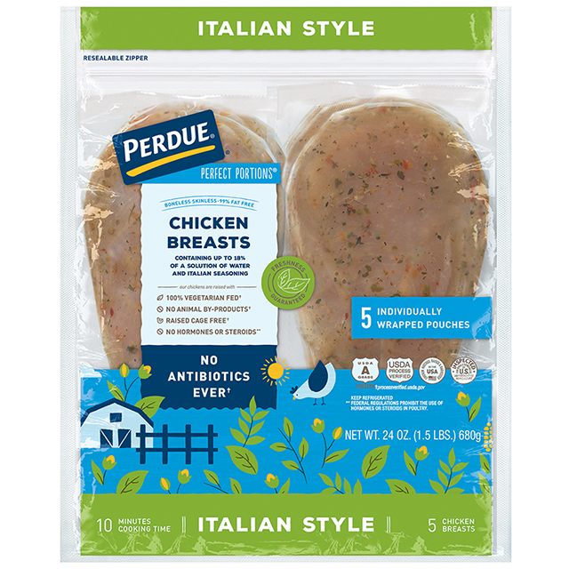 PERDUE® PERFECT PORTIONS® Boneless Skinless Chicken Breasts, Italian Style (1.5 lbs.)
