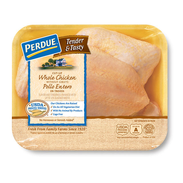 PERDUE® TENDER & TASTY™ Whole Cut-up Chicken Without Giblets and Neck