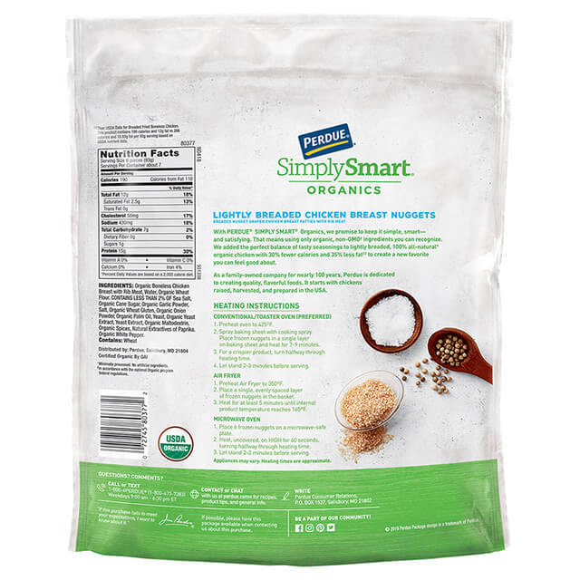 PERDUE® SIMPLY SMART® ORGANICS Lightly Breaded Chicken Nuggets (24 oz.)