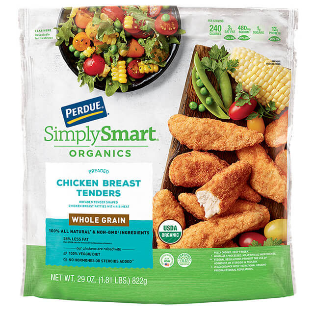 PERDUE® SIMPLY SMART® ORGANICS Whole Grain Chicken Breast Tenders (29 oz.)