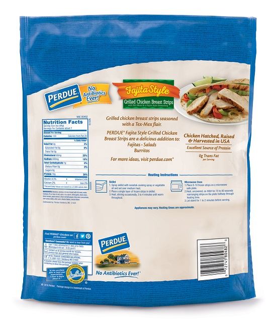 PERDUE® Fully Cooked Fajita-Style Grilled Chicken Breast Strips (22 oz.)
