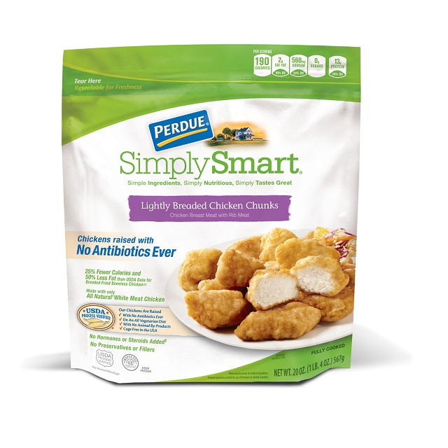 PERDUE® SIMPLY SMART® Lightly Breaded Chicken Chunks (20 oz.)