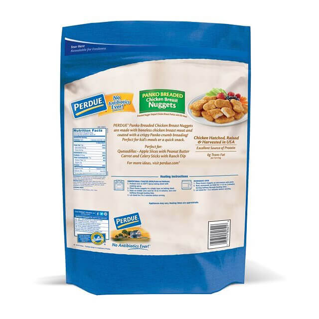 PERDUE® Fully Cooked No Antibiotics Ever Breaded Panko Nuggets (5lbs)