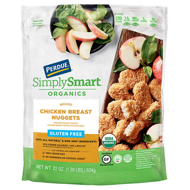 PERDUE® SIMPLY SMART® ORGANICS Breaded Chicken Breast Nuggets, Gluten Free (22 oz.)