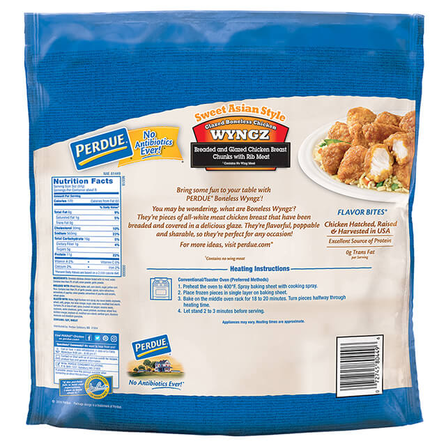 PERDUE® Sweet Asian Style Boneless Chicken Wyngz (26 oz.)