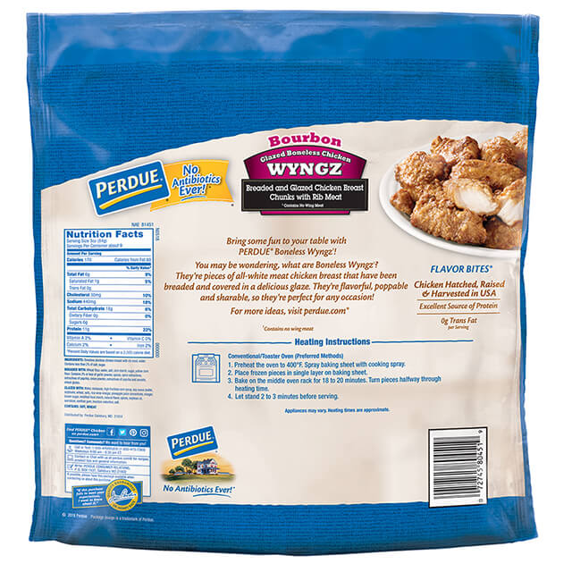PERDUE® Bourbon Style Boneless Chicken Wyngz (26 oz.)