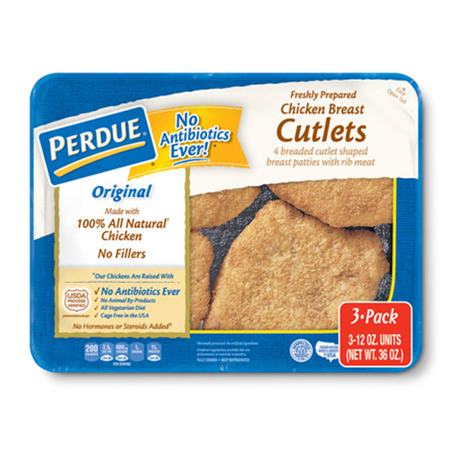 PERDUE® Refrigerated Breaded Chicken Breast Cutlets, for Clubs (Triple Pack/12 oz. ea.)