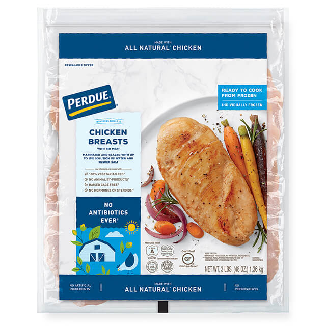 PERDUE® Individually Frozen Boneless, Skinless Chicken Breasts (3 lbs.)