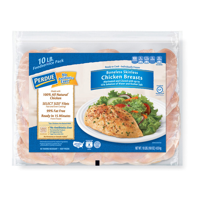 PERDUE®  Individually Frozen Boneless, Skinless Chicken Breasts, for Clubs (10 lbs.)