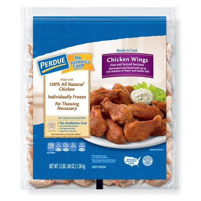 PERDUE® Individually Frozen Chicken Wings (3 lbs.)