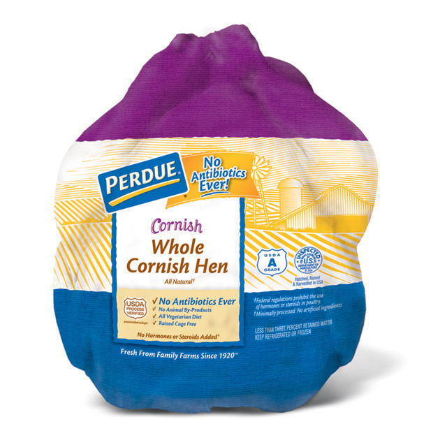PERDUE® Cornish Hen With Giblets, Frozen